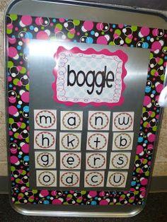 Boggle Board = Word Work Fun!