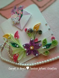 Quilled greeting card ♥
