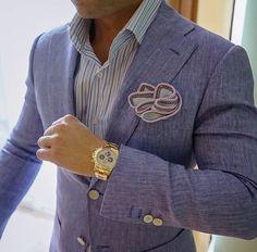 Sebastian Cruz Couture | White Nieve Wall Street with Lavender & Grey Signature Borders