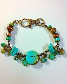 earth and rust designs. Turquoise and pearls. Monthly Challenge, Bead Art, Navajo, Rust, Turquoise Bracelet, Earth, Beads, Bracelets, Jewelry