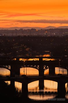 Bridges spanning the river Clyde in Glasgow, Scotland.