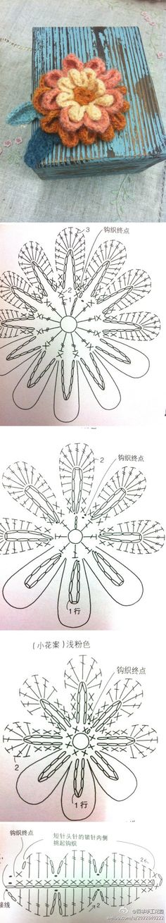 Simple flower with diagram, what you see here is what you get.