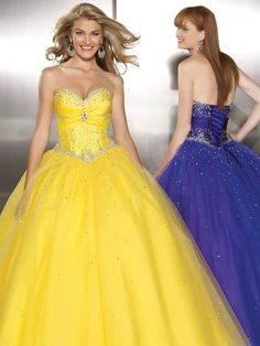 Sweetheart Neckline Prom Dress/Evening Dress with Beaded Bodice and Puffy Skirt