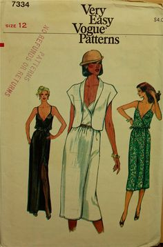 1980s Wrapped Dress and Jacket Vogue Pattern by patterntreasury, $14.95