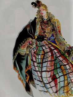 Oscar de la Renta, American Vogue, September 1983. Illustration by Antonio.