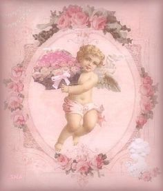 Rose cherub - So pretty Angel Aesthetic, Aesthetic Vintage, Red Aesthetic, Vintage Cards, Vintage Images, Princess Aesthetic, Creepy Cute, Renaissance Art, Aesthetic Pictures