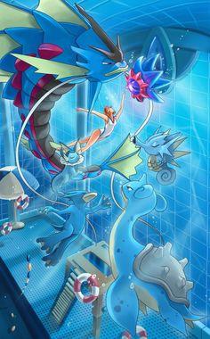 "zacharybla: ""Stay calm my monsters "" Misty - Pokemon - Pokémon Pokemon Oc, Pokemon Comics, Pokemon Fan Art, Pokemon Cards, Pokemon Images, Pokemon Pictures, Equipe Pokemon, Water Type Pokemon, New Retro Wave"