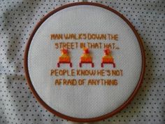 I always say that I would embroider that on a pillow someday. Whoever did is my hero.