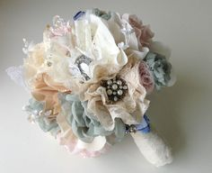 Hey, I found this really awesome Etsy listing at http://www.etsy.com/listing/151679984/fabric-wedding-bouquet-wildflower