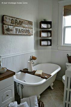 Our Vintage Home Love :: Farmhouse Bath Makeover!