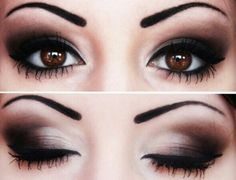#Makeup for brown eyes & Permanent #Eyebrow ideas