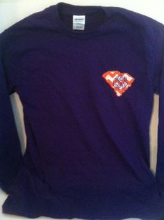 Clemson Monogrammed Long-sleeved T-shirt with South Carolina State Outline on Etsy, $22.00