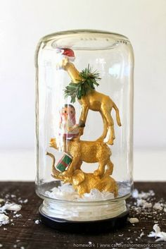 Animal Snow Globe via homework | www.carolynshomework.com