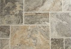 Silver Brushed Travertine Tiles | Floors of Stone