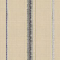 Burlap of Luxury:  This fabric has wide-set thin stripes of navy, tan and royal blue on a warm beige background.