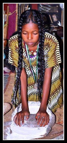 Coiffure traditionelle du Tchad