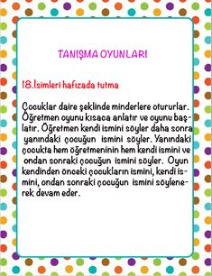 1. Sınıflar İçin İlk Günü Tanışma OYunları. Çİğdem Öğretmen Preschool Art Activities, Ice Breakers, Educational Games, First Day Of School, Games For Kids, Communication, Kindergarten, Sayings, Kids Ministry