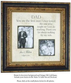 Father of the Bride Personalized Picture Frame Gift by PhotoFrameOriginals