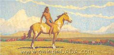 Maynard Dixon Paintings | Maynard Dixon, Pony Boy Fine Art Reproduction Oil Painting