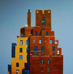 Peter  Rocklin - Greenwich Village Rooftops, Plus One Gallery, London.