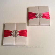 Gatefold Invitation Box / Silk Invitation Box / by BoxedWedding