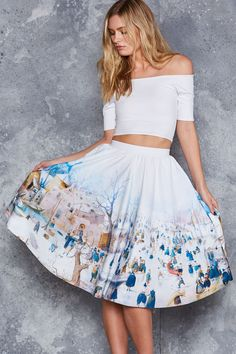 Winterscape Pocket Midi Skirt - LIMITED ($110AUD) by BlackMilk Clothing
