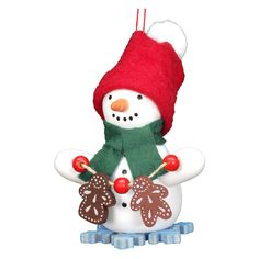 Christian Ulbricht Snowman with Gingerbread Cookies Ornament - 10-0270