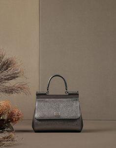 SICILY MINI DE BECERRO DAUPHINE LAMINADO - Bolsos pequeños de piel - Dolce&Gabbana - Invierno 2015
