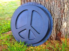 Stepping Stone Mold Peace Sign Peace Symbol Mould by KAPCREATIONS, $17.95