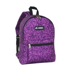 Everest Basic Pattern Backpack Purple One Size * Read more reviews of the product by visiting the link on the image.