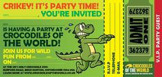 Crocodiles of the World is where all the really wild party animals go! We offer a great birthday package that's sure to make the day one to remember. Where else do you have the chance to get up close and personal with crocodiles, alligators and caimans? The birthday boy, girl or grown-up even gets the …