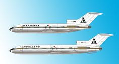 The Boeing 727-100 and 200 greatest plane on earth! the airline had 40 of them and was called the biggest user of this aircraft outside the US.