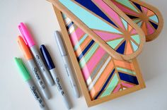 a pretty cool life.: diy gift: painted wooden boxes