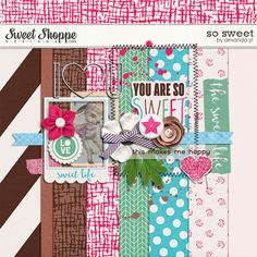 Quality DigiScrap Freebies: So Sweet mini kit freebie from Amanda Yi