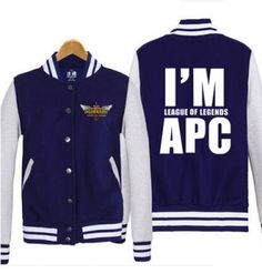 I am League of Legends APC sweatshirt game LOL baseball jackets plus size