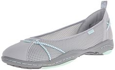JBU Womens Ava Ballet Flat GreyGlass 10 M US ** Continue to the product at the image link. Note:It is Affiliate Link to Amazon.