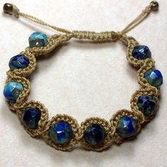 Crochet Jewelry Bohemian Bracelet Beautiful by GlowFlyJewelry, $16.00