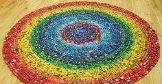 Um Arco-íris feito com 2.500 carrinhos