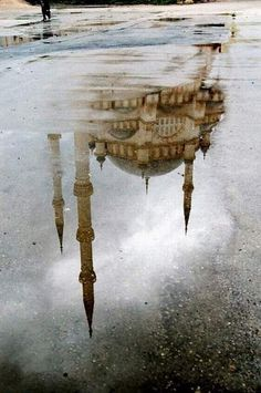 Istanbul In Reflection, the Hagia Sophia Oh The Places You'll Go, Places To Travel, Places To Visit, Hagia Sophia, Beautiful World, Beautiful Places, Beautiful Boys, Blue Mosque Istanbul, Belle Photo
