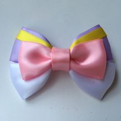 Daisy Duck Inspired Bow by spoonfulofsweet on Etsy