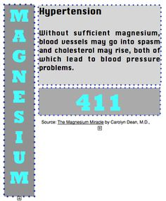 Back to Eden: Magnesium 411: Hypertension