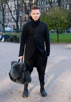 """Silver - Hel Looks - Street Style from Helsinki. """"Right now I like mixing different shades and textures of black."""""""
