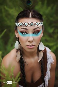 30 Easy Halloween Makeup Ideas - native american / indian costume and makeup