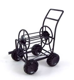 Dolls House Miniature Garden Accessory 1:12 Scale Metal Hose Pipe Reel Cart #TownSquareMiniatures