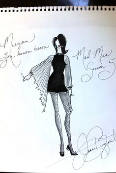 Janie Bryants sketch of Megan Drapers costume in Mad Men - Season Episode 1 Mad Men Season 5, Costume Design Sketch, Fashion Figure Drawing, Sweet Charity, Mad Women, Mad Men Fashion, Fashion Figures, Ballet Costumes, Style And Grace