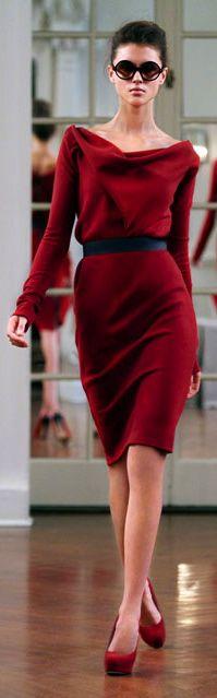 Victoria Beckham. Classic Winter Red.
