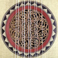 Baroque guitar rosette by vihuelademano guitars (flat-back baroque_5c-guitar)