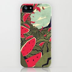 Watermelon surf dream iPhone & iPod Case by Yetiland - $35.00