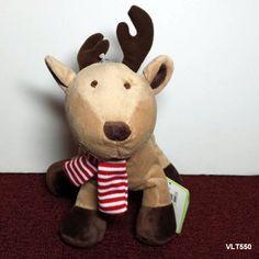"Carter's Reindeer - Just One Year - Christmas Plush Stuffed beanbag baby toy  8"" #JustOneYear"