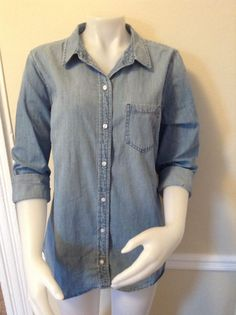 NWT GAP Women's L Sz Denim Shirt Long Sleeve Top Large Msrp 49.99 | Clothing, Shoes & Accessories, Women's Clothing, Tops & Blouses | eBay!